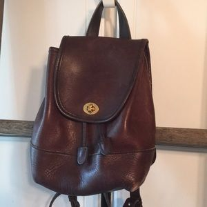 Small coach backpack brown